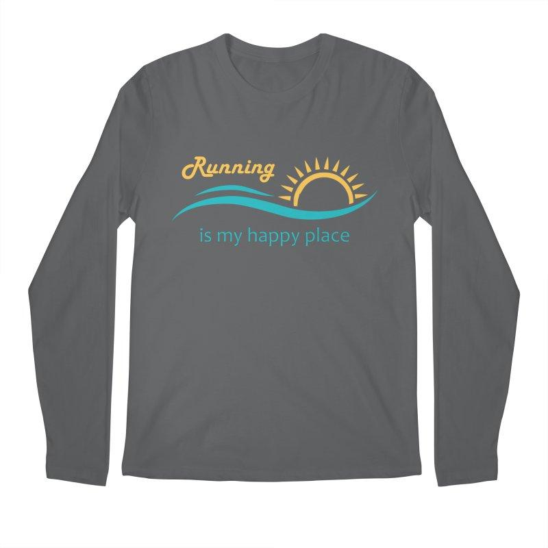 Shirt - Running is my Happy Place Men's Longsleeve T-Shirt by Wet Silver's Artist Shop