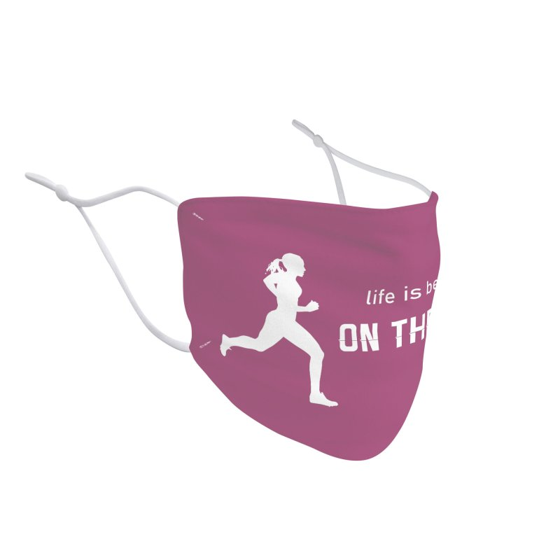 Life is better on the run Accessories Face Mask by Wet Silver's Artist Shop