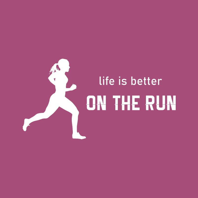 Life is better on the run Accessories Sticker by Wet Silver's Artist Shop