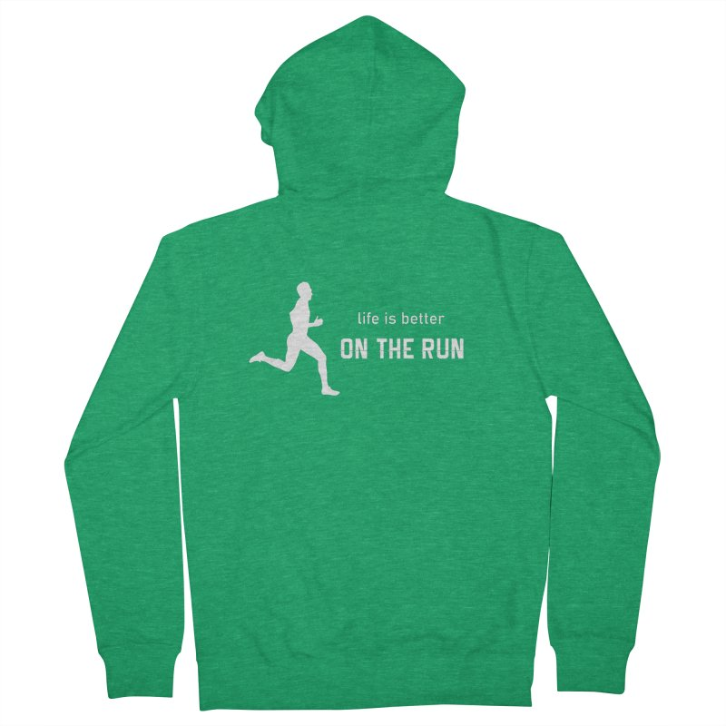 Life is Better on the Run - Men's edition Men's Zip-Up Hoody by Wet Silver's Artist Shop
