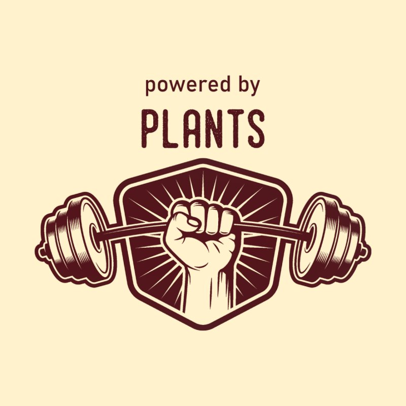 Powered by Plants Strong Men's Longsleeve T-Shirt by Wet Silver's Artist Shop