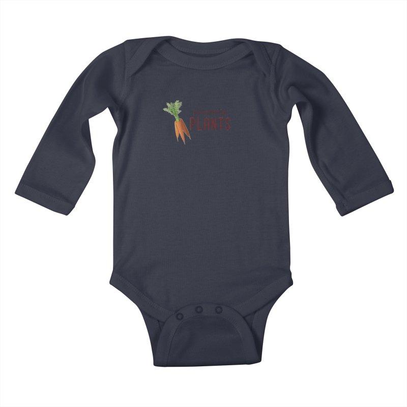 Powered by Plants Kids Baby Longsleeve Bodysuit by Wet Silver's Artist Shop