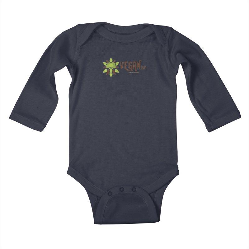 Vegan ...ish Kids Baby Longsleeve Bodysuit by Wet Silver's Artist Shop