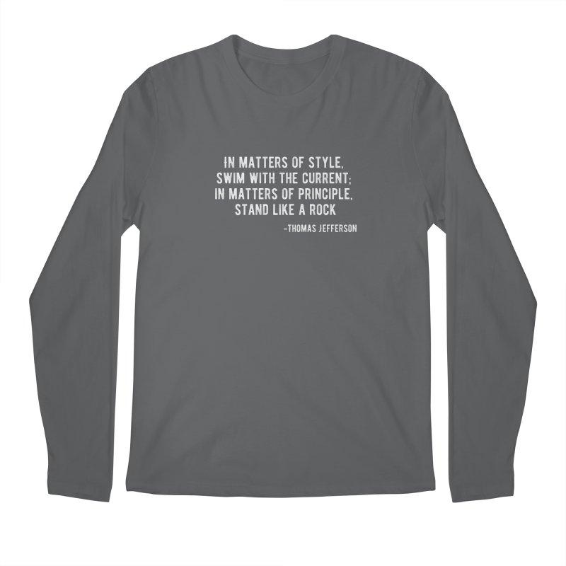 Stand like a Rock Men's Longsleeve T-Shirt by Wet Silver's Artist Shop