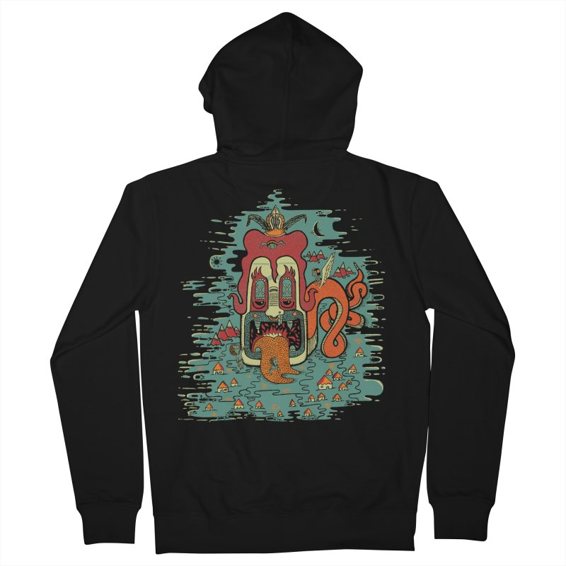 Serpiente Men's Zip-Up Hoody by wetzka's Artist Shop