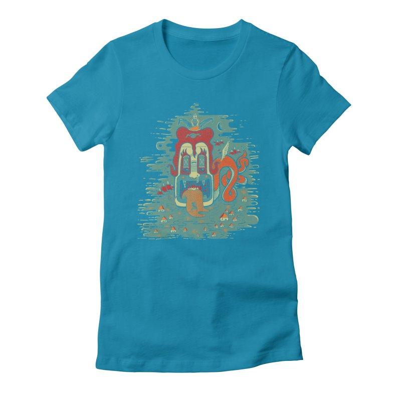 Serpiente Women's Fitted T-Shirt by wetzka's Artist Shop