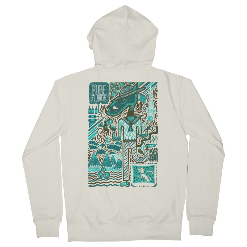 sabor puro Men's Zip-Up Hoody by wetzka's Artist Shop
