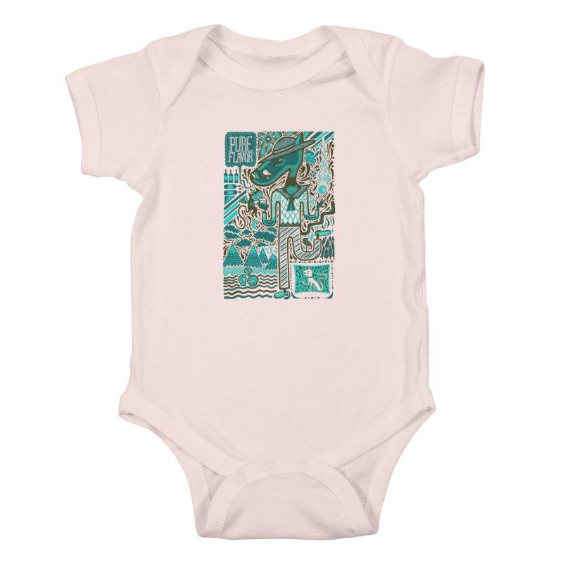 sabor puro Kids Baby Bodysuit by wetzka's Artist Shop