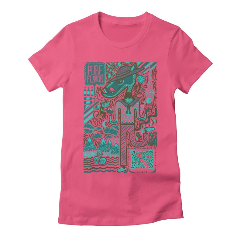 sabor puro Women's Fitted T-Shirt by wetzka's Artist Shop