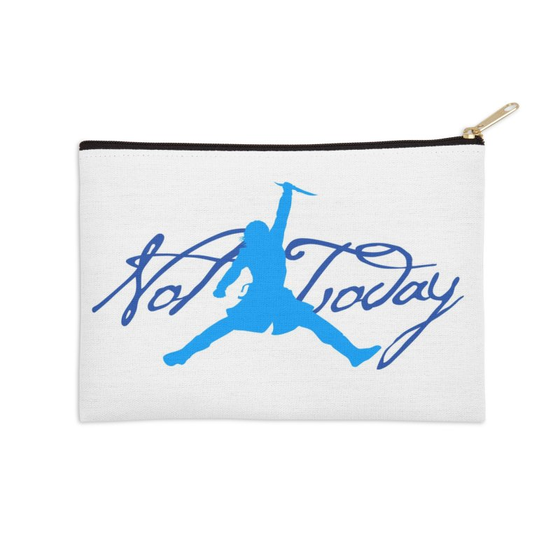 Not Today Air Jordan Parody Accessories Zip Pouch by World Famous Design Junkies