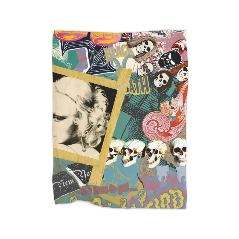 Wild and Weird Home Fleece Blanket by World Famous Design Junkies