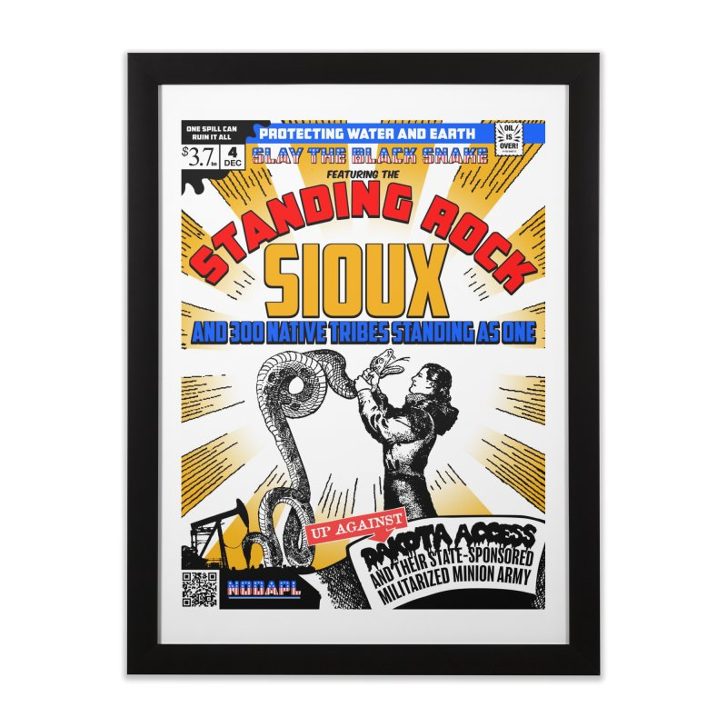 Standing Rock Sioux Cover / #NODAPL Poster Print   by World Famous Design Junkies