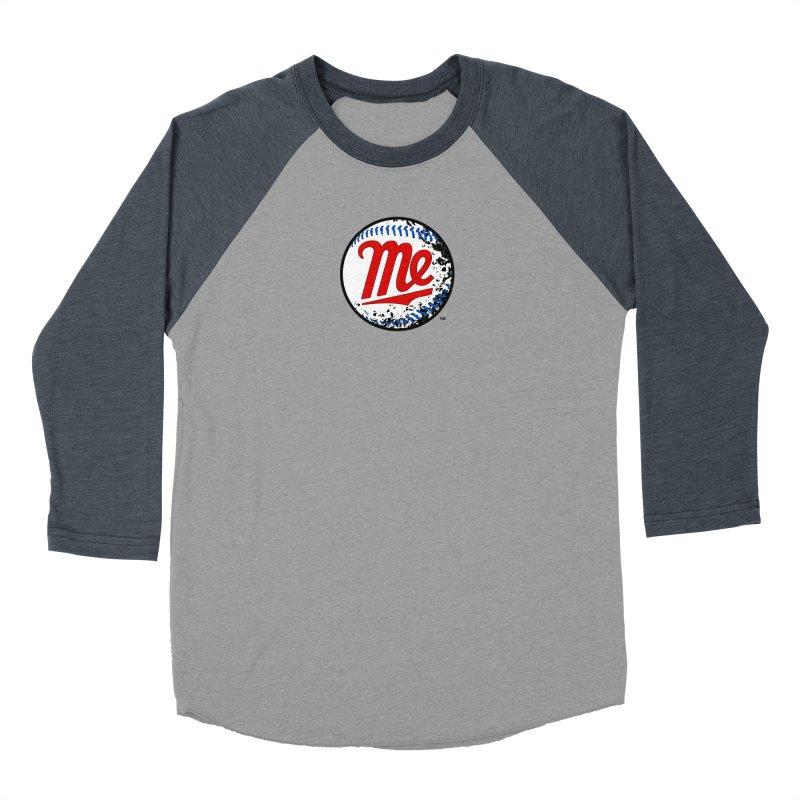 Baseball Me Women's Baseball Triblend Longsleeve T-Shirt by World Famous Design Junkies