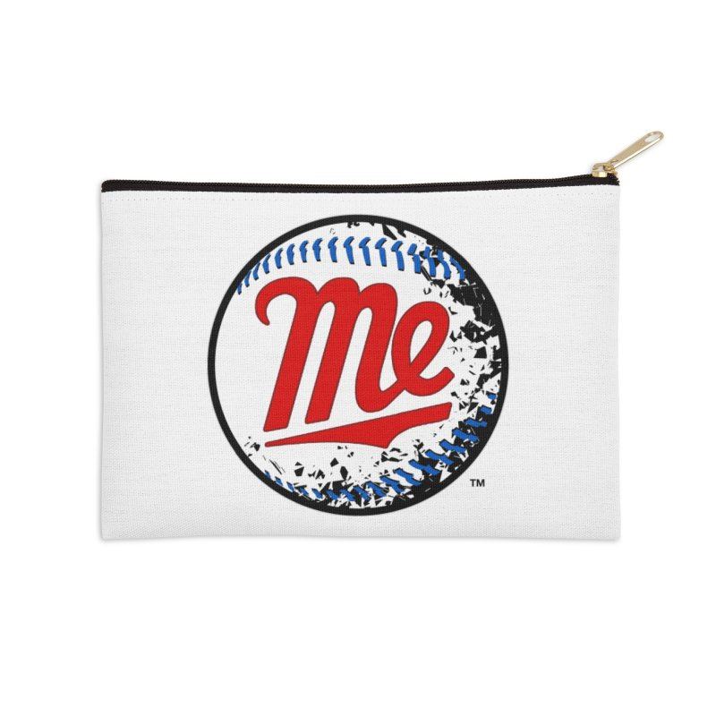 Baseball Me Accessories Zip Pouch by World Famous Design Junkies