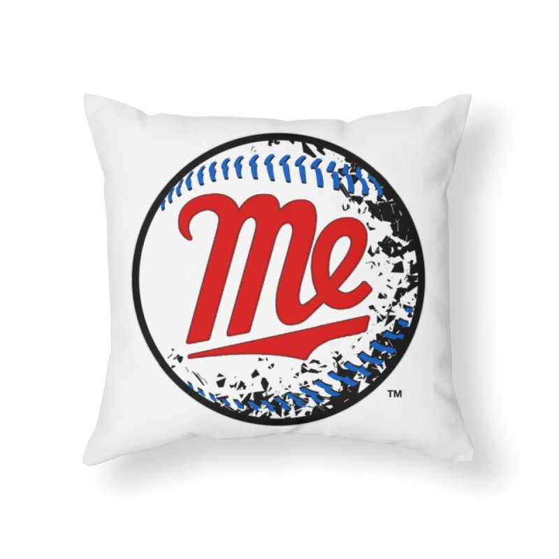 Baseball Me Home Throw Pillow by World Famous Design Junkies