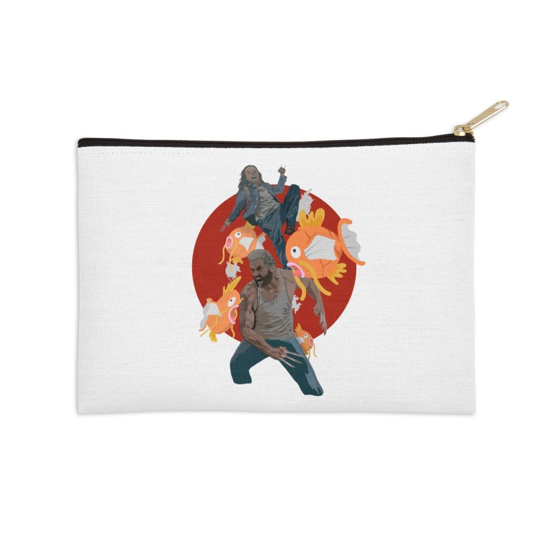 Father, Child, Fish Accessories Zip Pouch by World Famous Design Junkies