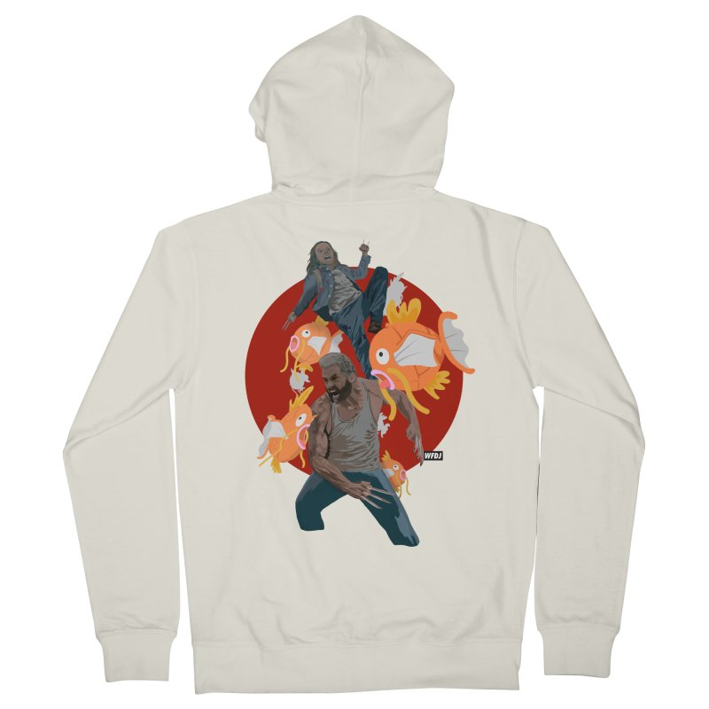 Father, Child, Fish Men's Zip-Up Hoody by World Famous Design Junkies