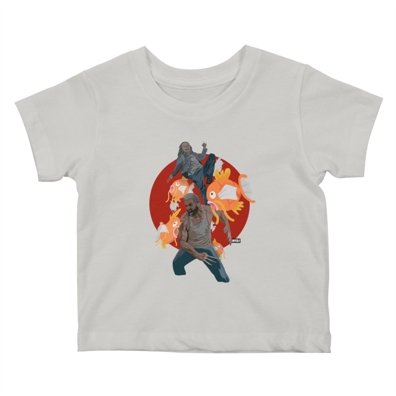 Father, Child, Fish Kids Baby T-Shirt by World Famous Design Junkies