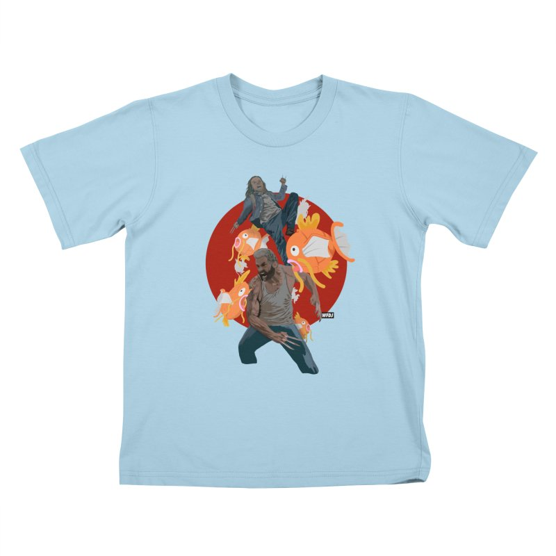 Father, Child, Fish Kids T-shirt by World Famous Design Junkies