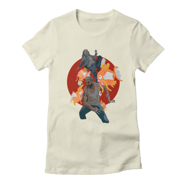 Father, Child, Fish Women's Fitted T-Shirt by World Famous Design Junkies