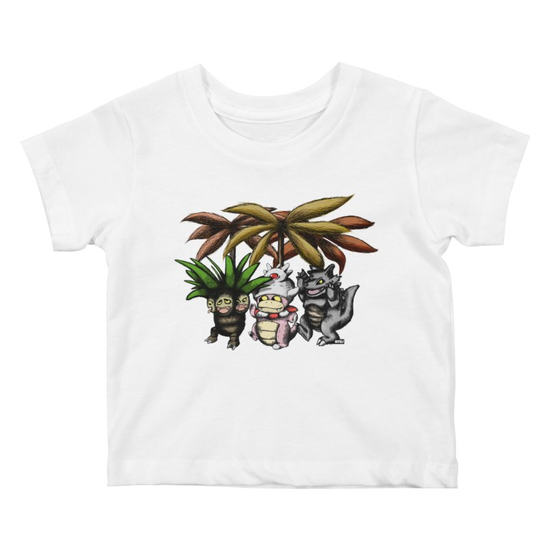 Wild Monster Capture Rumpus Kids Baby T-Shirt by World Famous Design Junkies