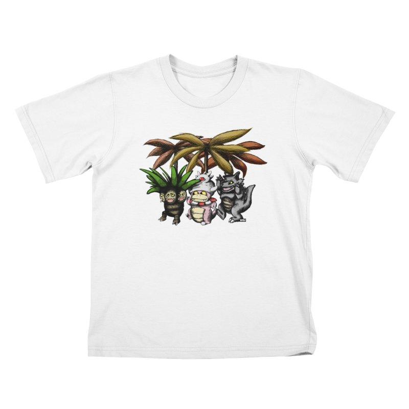 Wild Monster Capture Rumpus Kids T-Shirt by World Famous Design Junkies