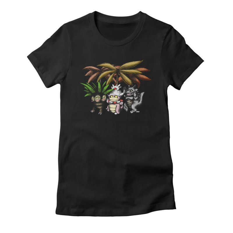 Wild Monster Capture Rumpus Women's Fitted T-Shirt by World Famous Design Junkies