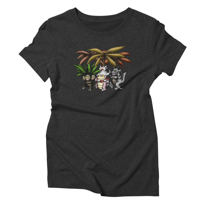 Wild Monster Capture Rumpus Women's Triblend T-shirt by World Famous Design Junkies