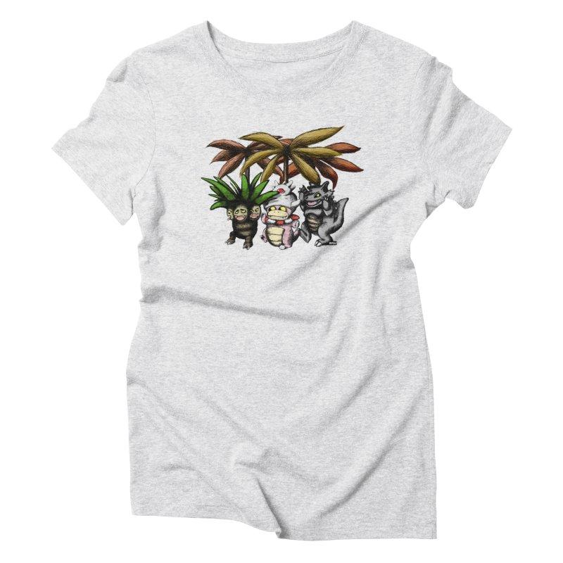 Wild Monster Capture Rumpus Women's Triblend T-Shirt by World Famous Design Junkies