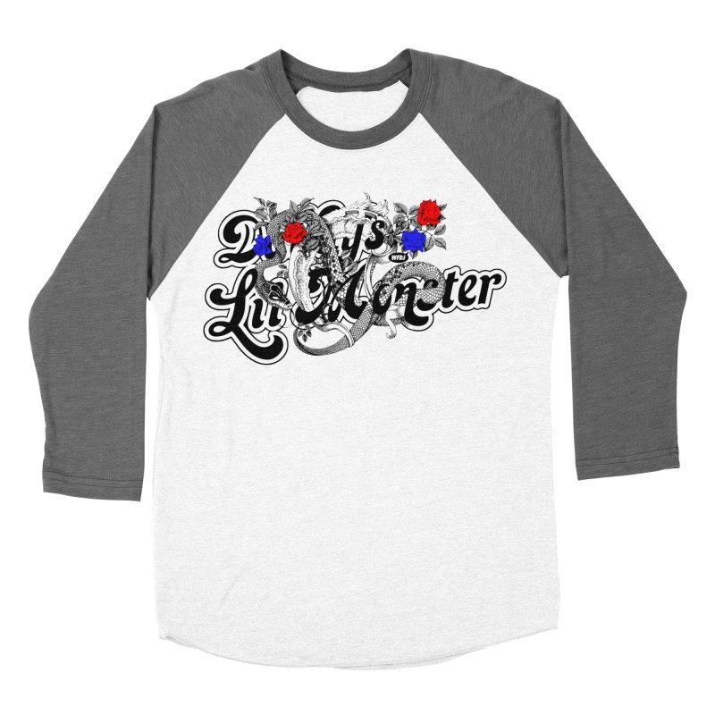 Little Monster [DARK] Women's Baseball Triblend T-Shirt by World Famous Design Junkies