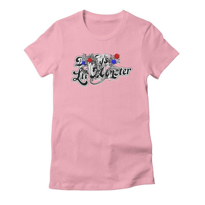 Little Monster [DARK] Women's Fitted T-Shirt by World Famous Design Junkies