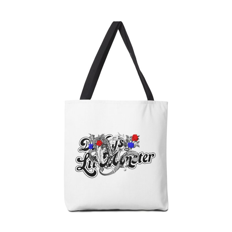 Little Monster [DARK] Accessories Tote Bag Bag by World Famous Design Junkies