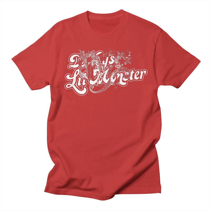 Lil' Monster WHITE Women's Unisex T-Shirt by World Famous Design Junkies