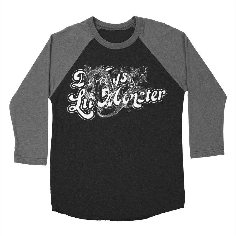 Lil' Monster WHITE Women's Baseball Triblend T-Shirt by World Famous Design Junkies