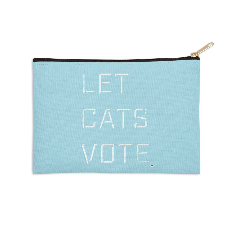 LET CATS VOTE Accessories Zip Pouch by World Famous Design Junkies