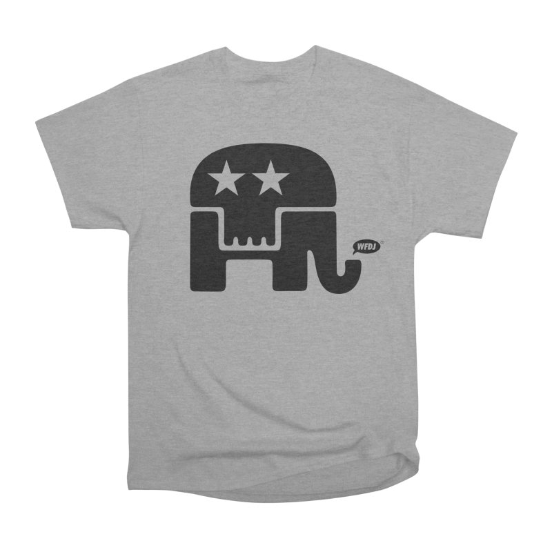Party of Death [ Republican Elephant Skull ] Men's Heavyweight T-Shirt by World Famous Design Junkies