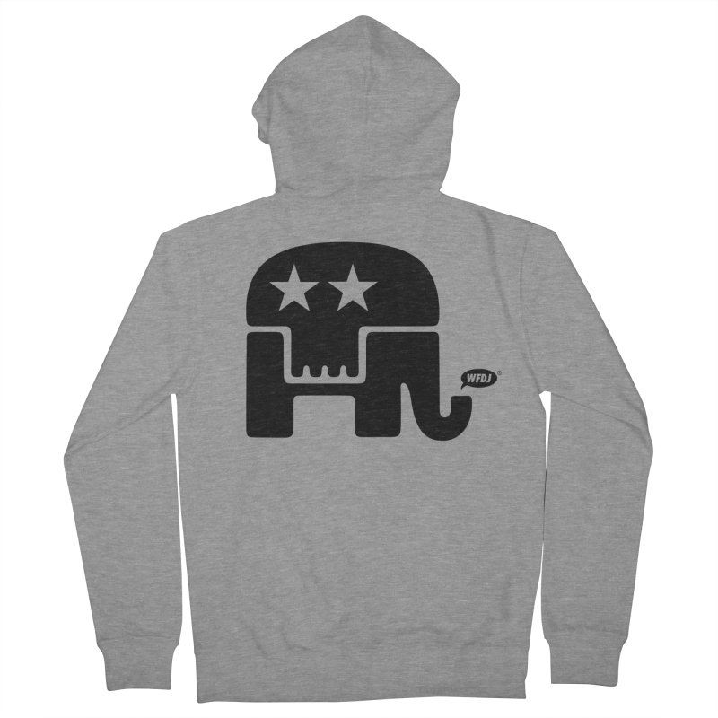 Party of Death [ Republican Elephant Skull ] Men's Zip-Up Hoody by World Famous Design Junkies
