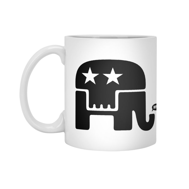 Party of Death [ Republican Elephant Skull ] Accessories Mug by World Famous Design Junkies