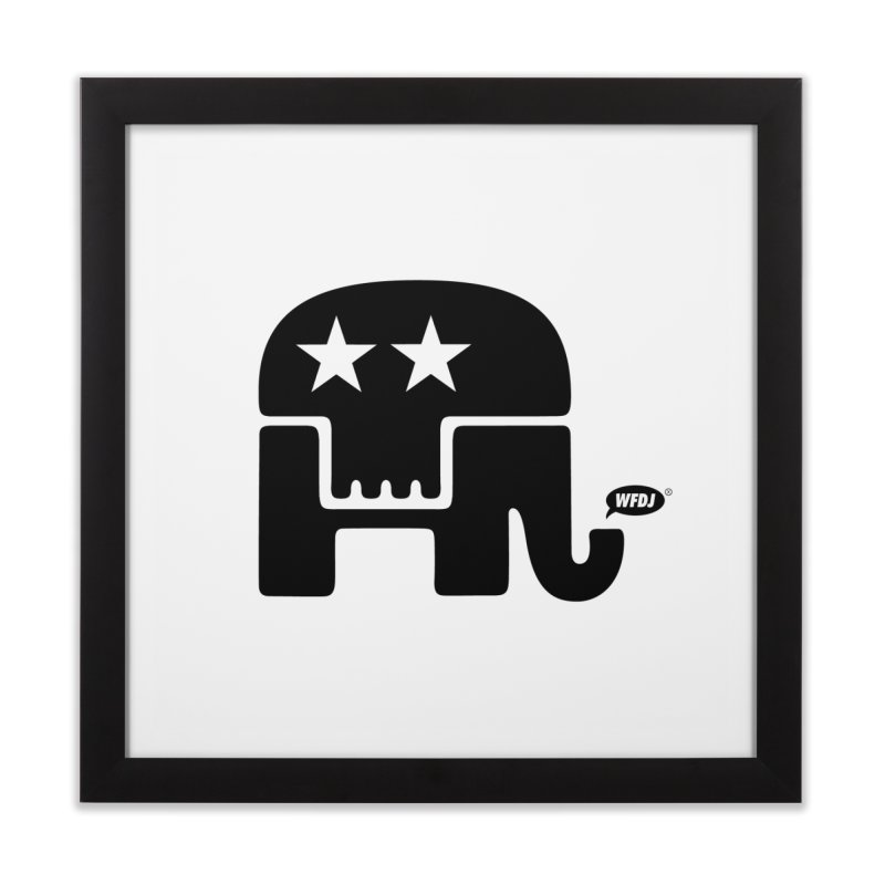 Party of Death [ Republican Elephant Skull ] Home Framed Fine Art Print by World Famous Design Junkies