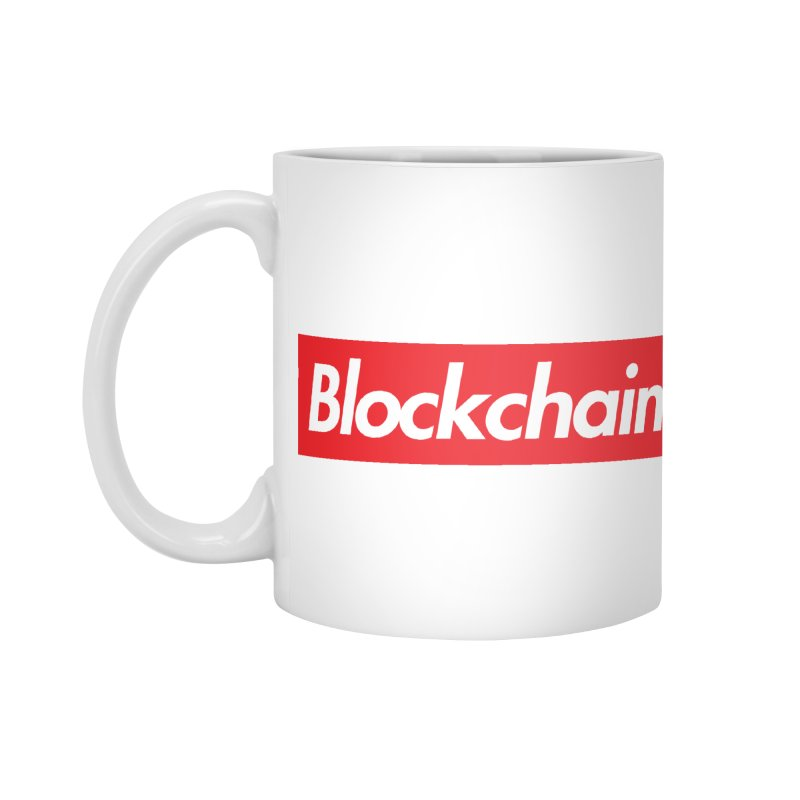 Blockchain box logo Accessories Mug by World Famous Design Junkies