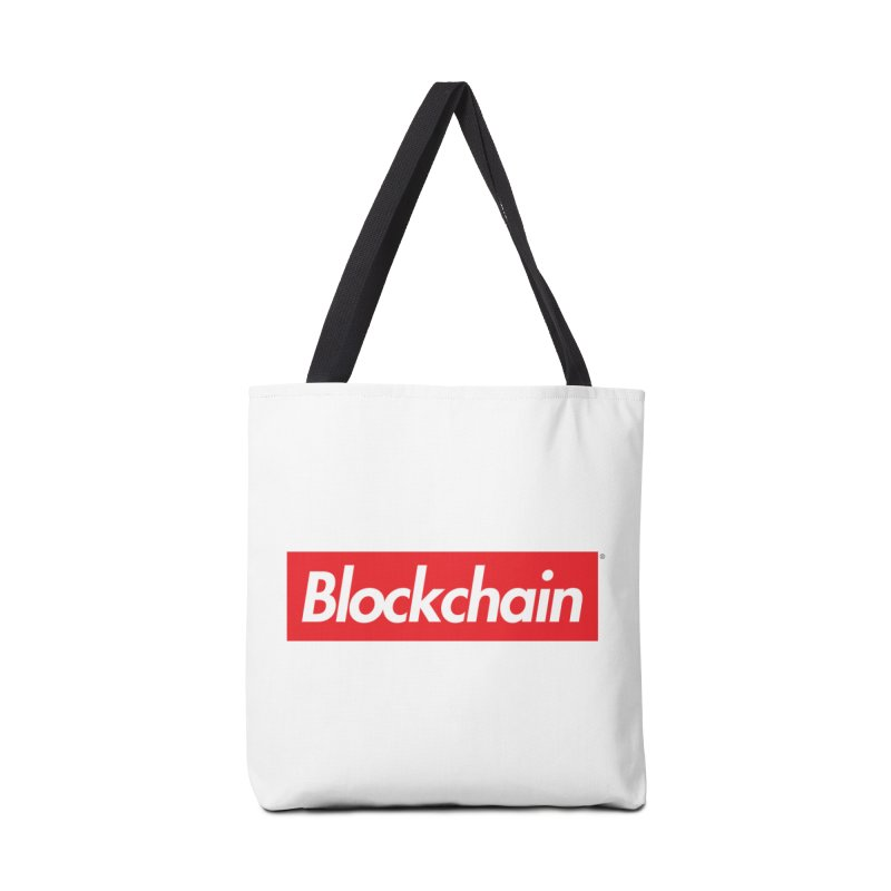 Blockchain box logo Accessories Bag by World Famous Design Junkies