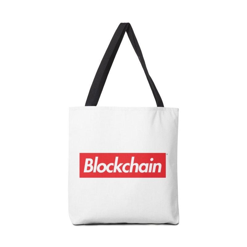 Blockchain box logo Accessories Bag by World Famous Design Junkies