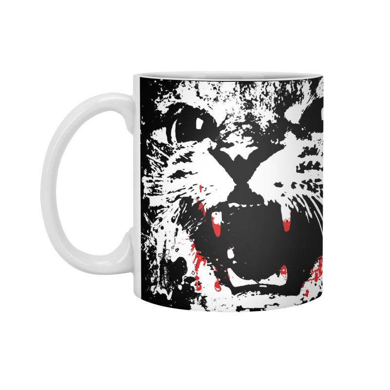 WARNING: NO CAT (blood) Accessories Mug by World Famous Design Junkies
