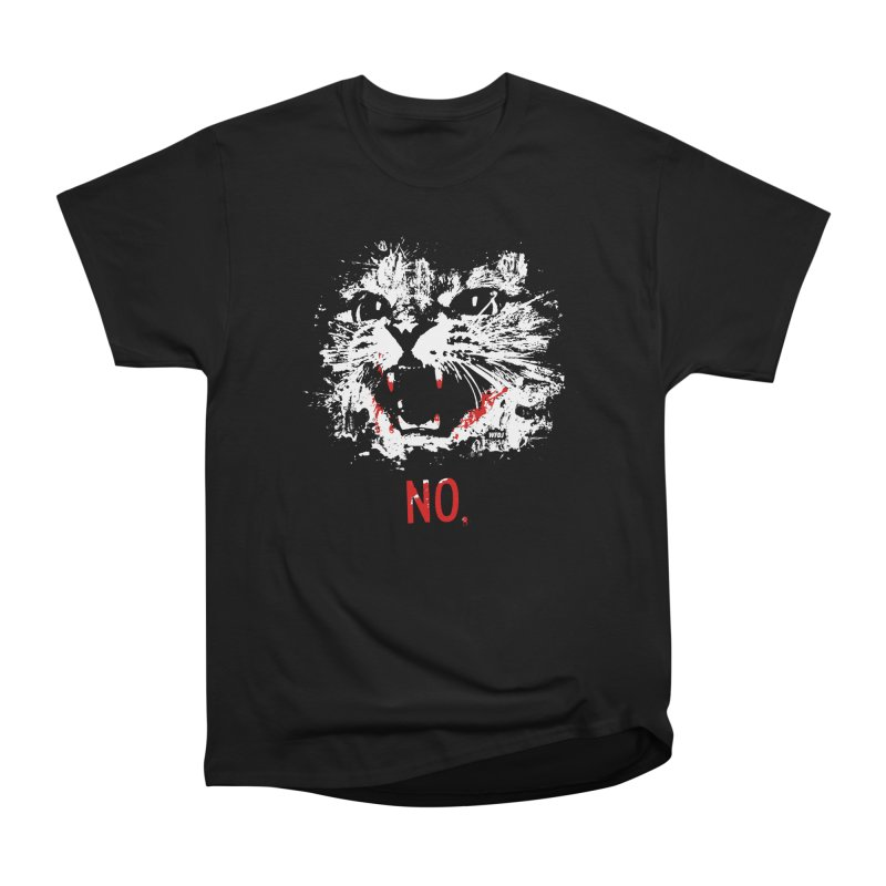 WARNING: NO CAT (blood) Men's Classic T-Shirt by World Famous Design Junkies