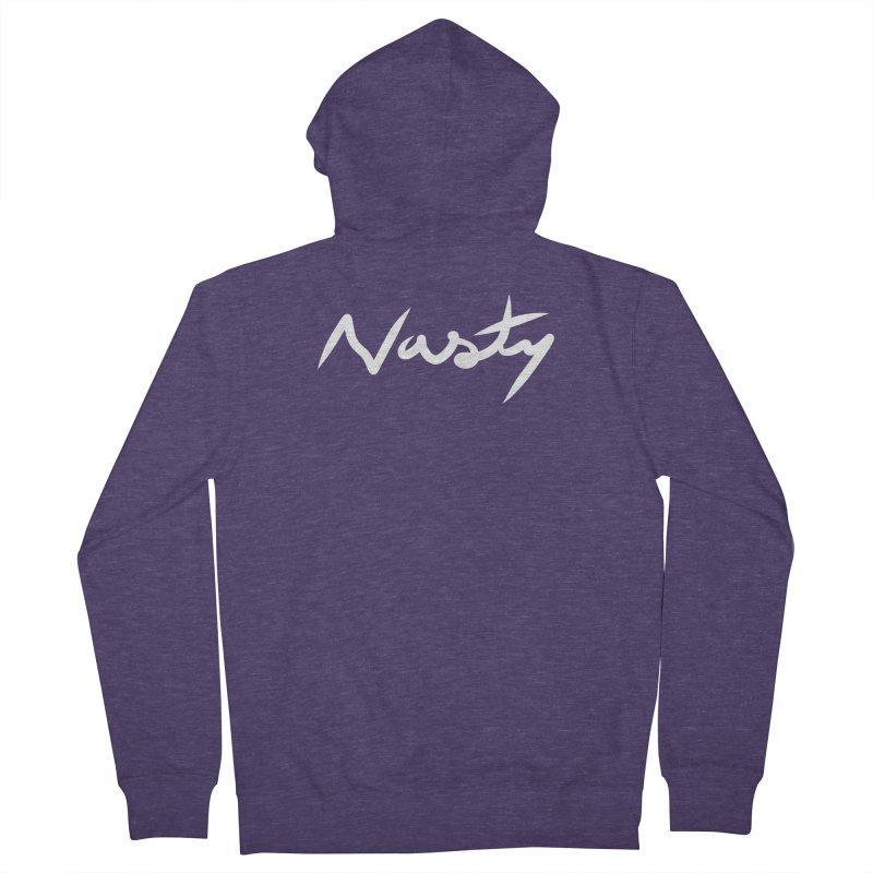 Nasty Men's Zip-Up Hoody by World Famous Design Junkies
