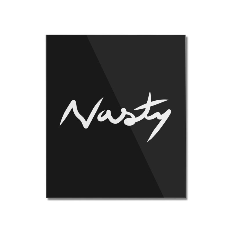 Nasty Home Mounted Acrylic Print by World Famous Design Junkies