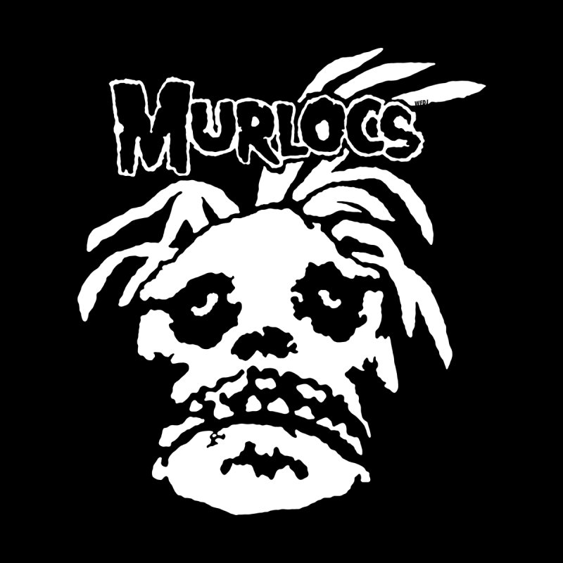Murloc Misfits black and white by World Famous Design Junkies