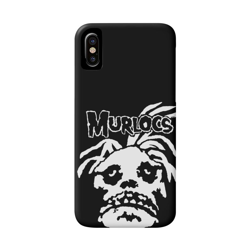Murloc Misfits black and white Accessories Phone Case by World Famous Design Junkies