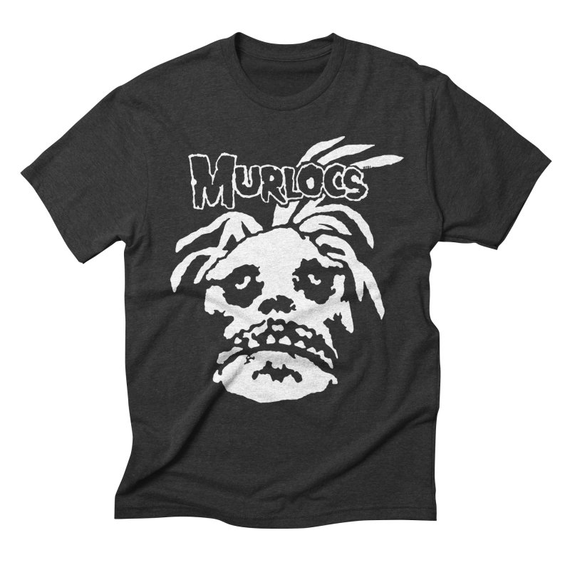 Murloc Misfits black and white Men's Triblend T-Shirt by World Famous Design Junkies