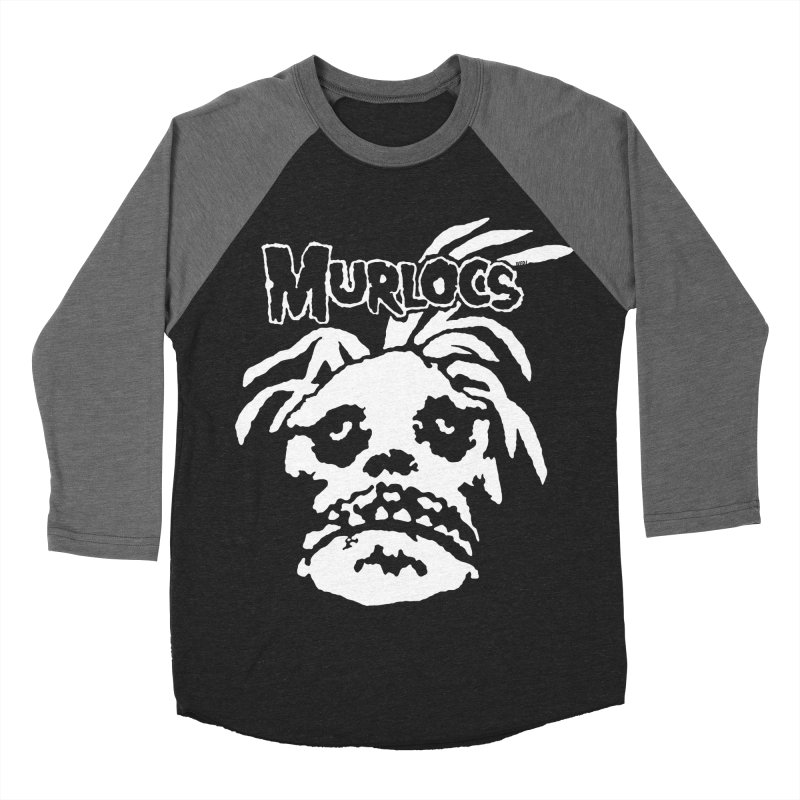 Murloc Misfits black and white Men's Baseball Triblend T-Shirt by World Famous Design Junkies